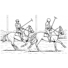 Polo Match Coloring Page