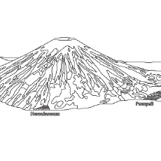Top 10 Free Printable Volcano Coloring Pages Online