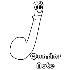 the quarter note - Music Notes Coloring Pages