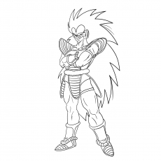 Character Name Raditz Coloring To Print
