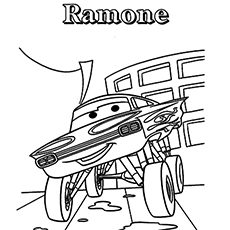 the ramone - Free Disney Cars Coloring Pages To Print