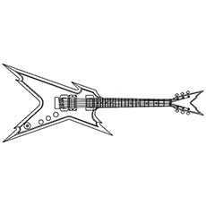 the rock guitar - Guitar Coloring Pages