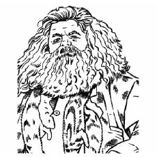 rubeus hagrid severus snape coloring page - Harry Potter Coloring Pages