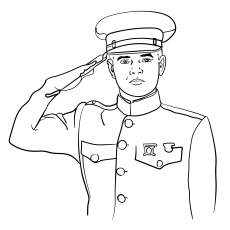 The Saluting Soldier