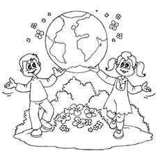 Save Earth Printable Coloing Page