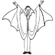 Coloring Pages Of Scary Vampire