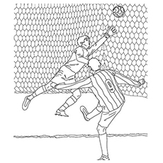 soccer player coloring pages Soccer Coloring Pages   Free Printables   MomJunction soccer player coloring pages