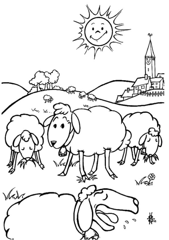 The-Sheep-Eating-coloring