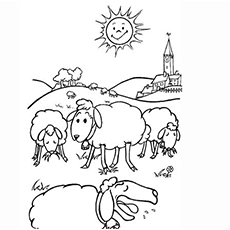 The Sheep Eating Coloring