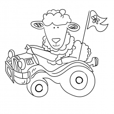 The Sheep In a Car