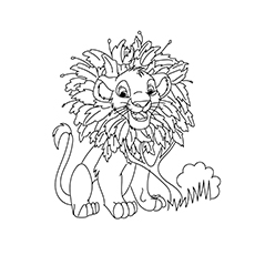 The Simba With A Wreath of Leaves coloring pages