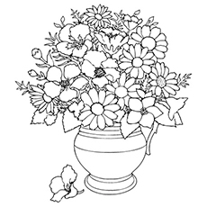 Top 35 free printable spring coloring pages online spring flowers kept in flower pot to color mightylinksfo
