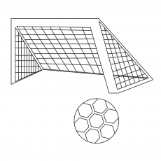 The Soccer Ball And Net
