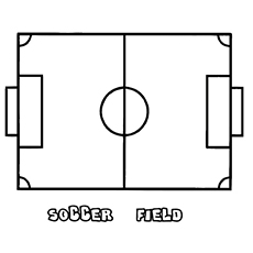 soccer field coloring pages to print free