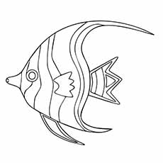Striped Gill Coloring Pages