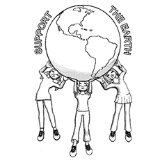Support the Earth Coloring Sheet