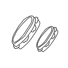 The Tambourine coloring page