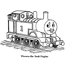 Thomas The Train Main Character Coloring Pages