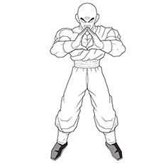 the tien character coloring pages