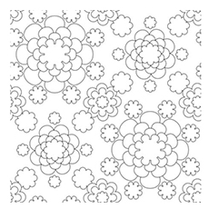 Tiny Flower Patterns Coloring Pages to Print