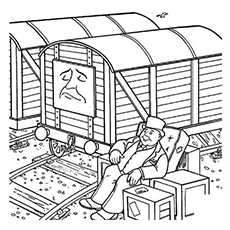 The Toby Coloring Page to Print