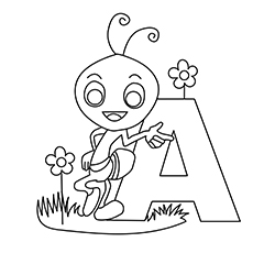 Letter A Coloring Pages - Free Printables - MomJunction
