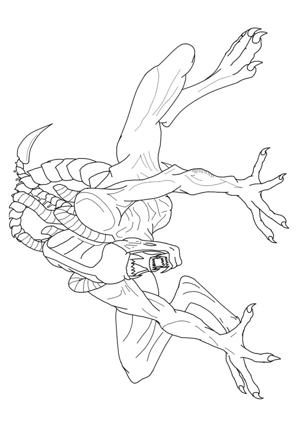 The-Xenomorph-coloring-page
