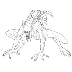 Alien Xenomorph Coloring Pages For AdultsXenomorphPrintable