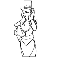 Character named Zatanna Coloring Pages