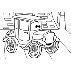 the cars coloring pages