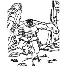 The Incredible Hulk Face Coloring Pages