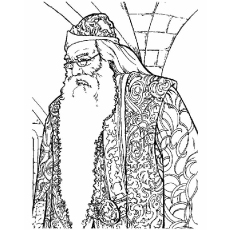 Character Name Albus Dumbledore Picture to Color