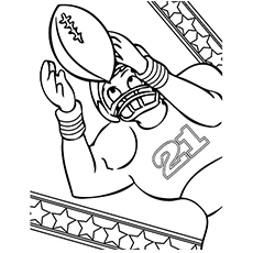 American Football Coloring Page to Print