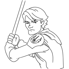 Coloring Pages of Anakin Skywalker from Star Wars
