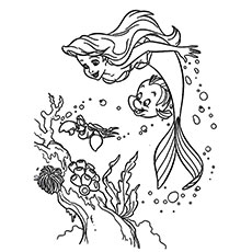 Little Mermaid Ariel And Friends Coloring Pages