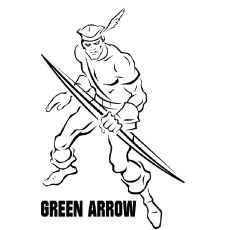 Coloring Pages Green Arrow Partner To Batman