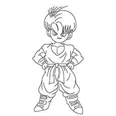 dragon ball z coloring pages trunks dbz | Top 20 Free Printable Dragon Ball Z Coloring Pages Online