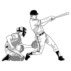 american football baseball sport coloring page