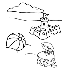 the beach ball1 - Beach Ball Coloring Page Printable