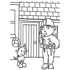 Bob with Pilchard Coloring Page