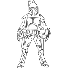 stars wars boba fett coloring sheet to print - Star Wars Coloring Pages