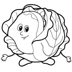 fresh cabbage tales to color - Vegetables Coloring Pages