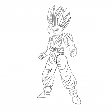 Dragon Ball Z Character Name Child Gohan Coloring Page