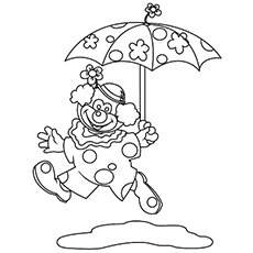 The Clown With An Umbrella