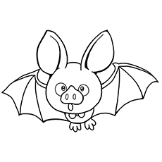 Free Cute Bat Printable Coloring Pages