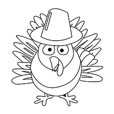 Happy Thanksgiving Cute Dog Coloring Pages Printable | 230x230