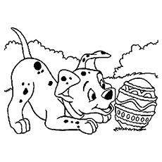 Dalmatian Celebration On Easter To Color Ariel Coloring Page Print