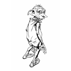 Image of Dobby From Harry Potter Series to Color for Kids