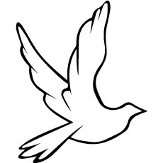 Dove Sign Of Peace Coloring Pages