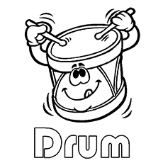 Coloring Sheets of Drum Music